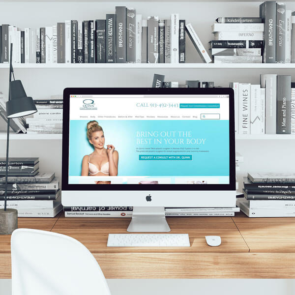 Quinn Plastic Surgery Website on Desktop Computer Featured Image